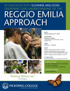 Pickering College - Reggio Conference Nov 1